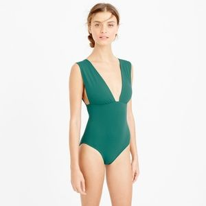 NWT J. Crew Plunge V-Neck One-Piece Swimsuit